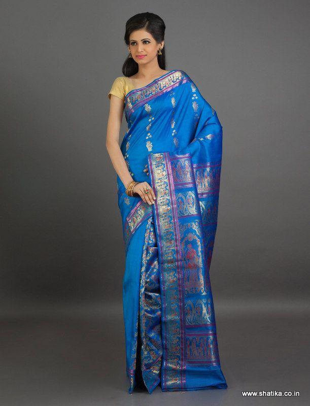 Ambalika Fully Adorned Pleats Pure #Baluchari #SilkSaree