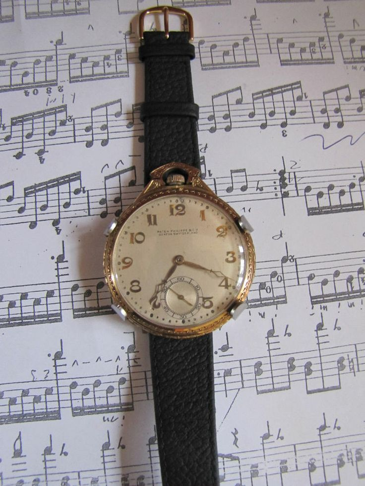 HUGE Patek Philippe  art deco watch, 14 k gold,very rare, collectible! just serviced! Yours for $3875!
