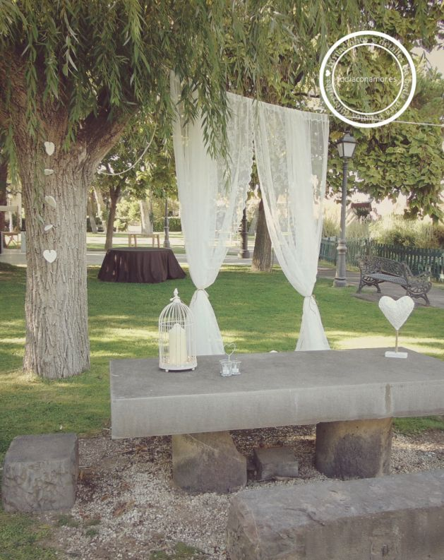 Tu d a con amor bodas y eventos la boda de erik rebe - Cortinas estilo vintage ...