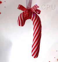 DoCrafts Mini Soft Christmas Kits - Candy Cane.  Perfect for making your own Xmas Tree Decorations.