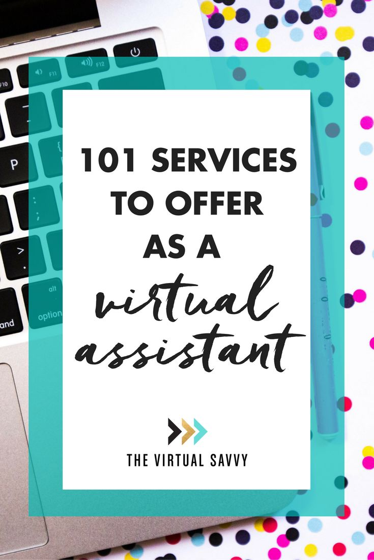 Don't miss this epic list of 101 services you can offer as a Virtual Assistant! via The Virtual Savvy