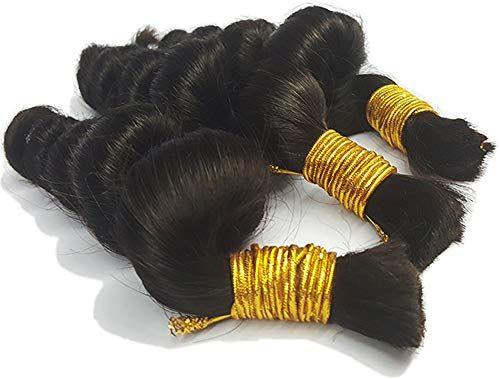 New Hot Sale Hannah product Loose Wave Bulk Human Hair For Braiding Hair No Weft Micro mini Braiding Bulk Hair 3 Bundles 300g Brazilian (22 24 26 Natural Black #1B) online shopping