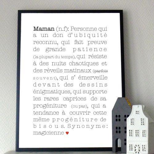 Affiche Maman 13€ chez http://www.babayaga-magazine.com/e-shop-babayaga/maman/