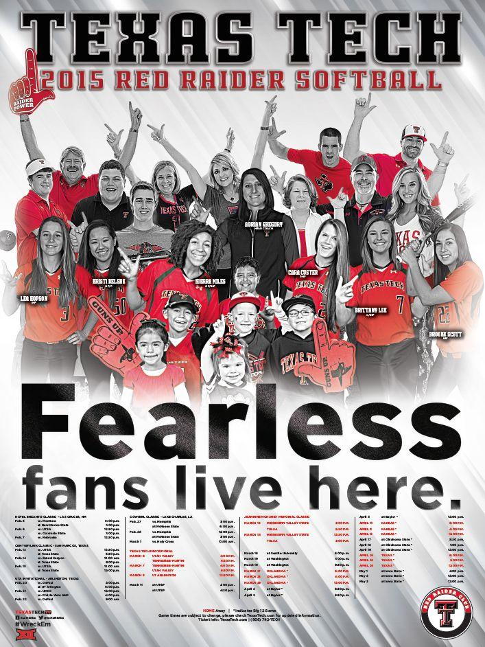Texas Tech Softball Poster (2015)