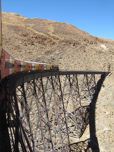 "Tren a las Nubes"" (Train to the Clouds) of 4200 m. (8562.58 feet) Salta…"