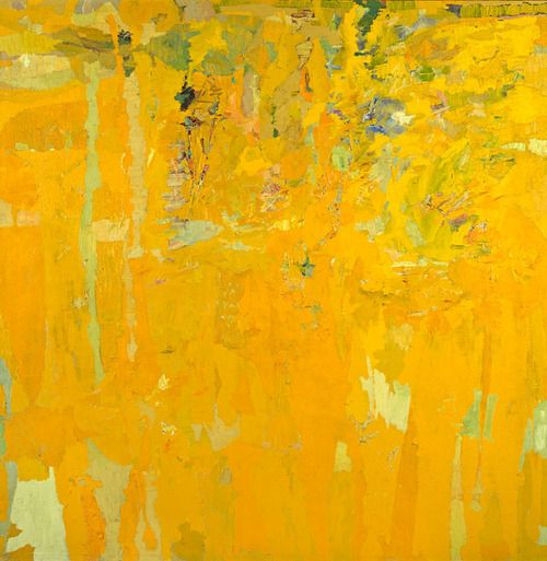 Woohoo! A painting in my FAVORITE color, by Stanley Boxer