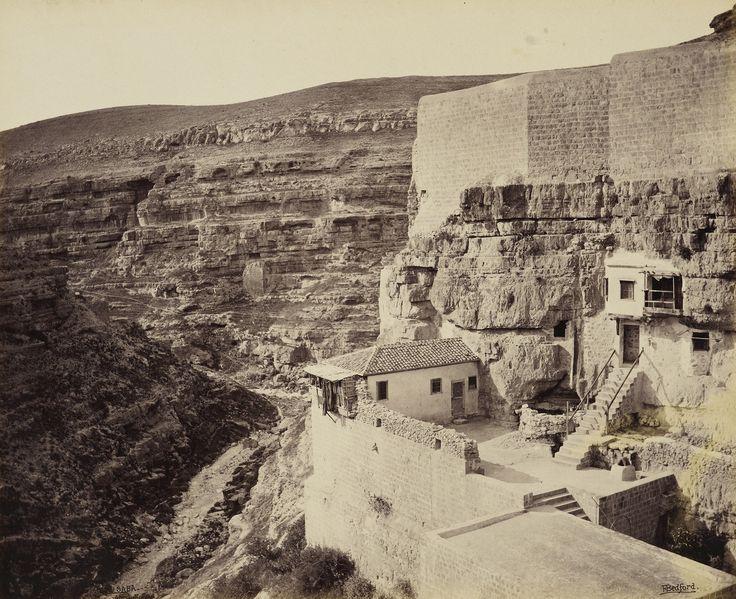 Il 4 aprile 1862. La vista dalla terrazza del monastero di Mar Saba