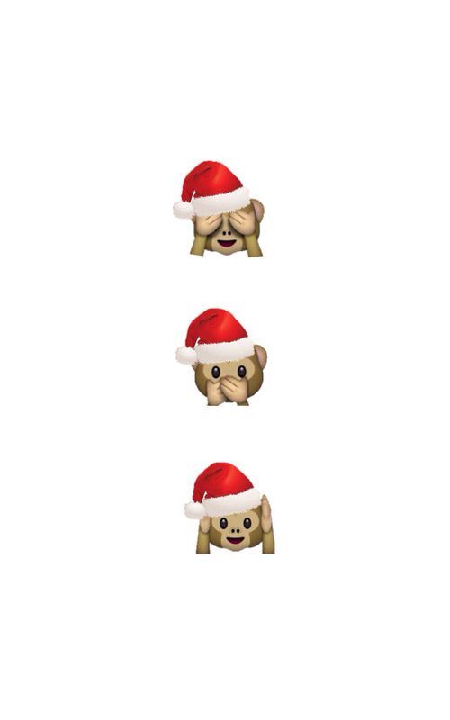 Emoji Christmas wallpaper