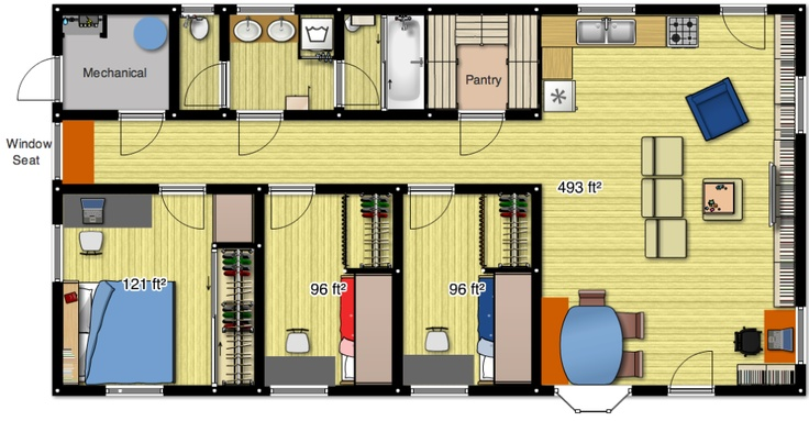 Concept for a small home for a family of four home things pinterest tiny houses small - Small spaces channel concept ...