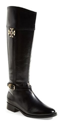 Gorgeous Tory Burch riding boot - BACK IN STOCK!!!  Coconut and Black - all sizes! http://rstyle.me/n/mvkhhnyg6