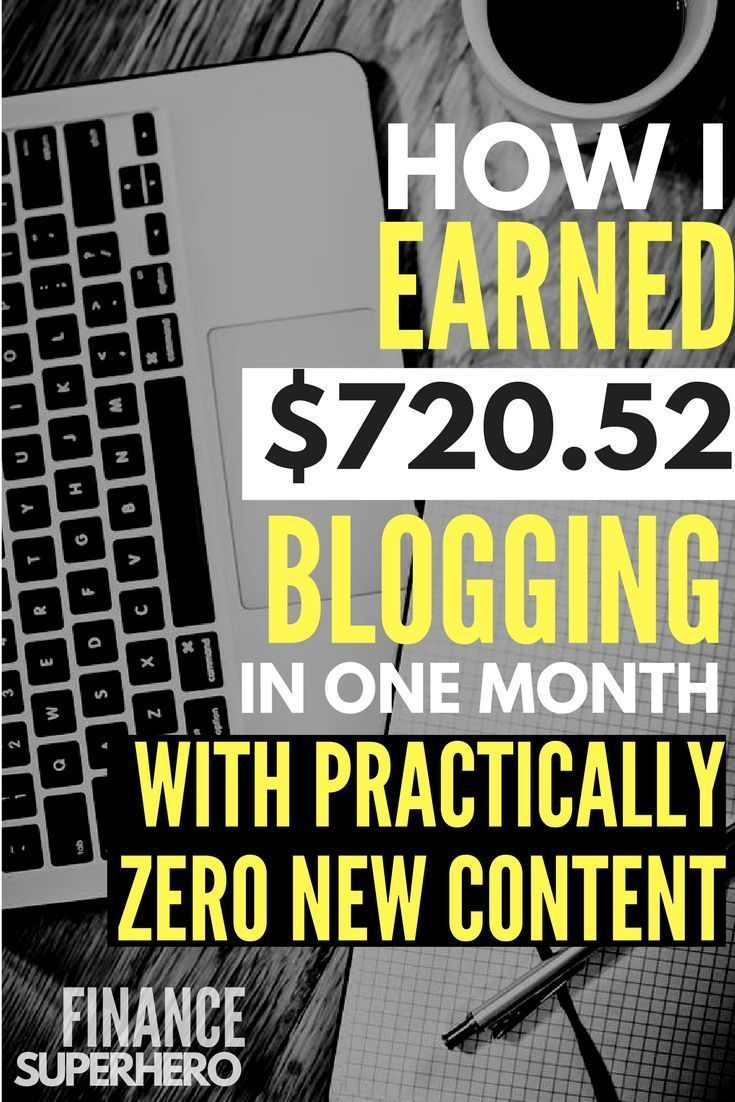 How I made money blogging with almost zero new content in September