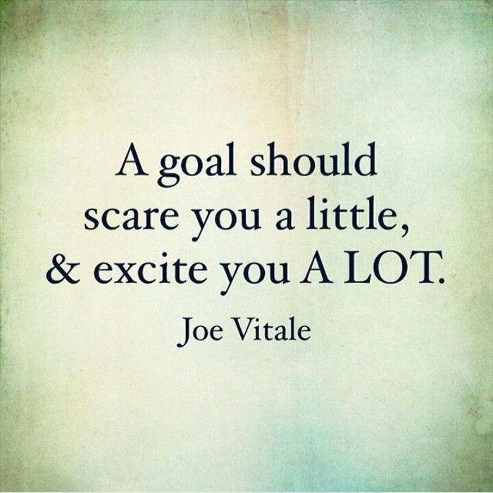 "check--""A goal should scare you a little & excite you a lot."" Joe Vitale #inspirationalquote #fashion #scarf"