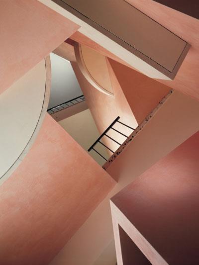 "Bxxlght interior inspiration Ettore Sottsass""ESPRIT"" Fragship Shop 'Staircase' Köln Germany 1986"