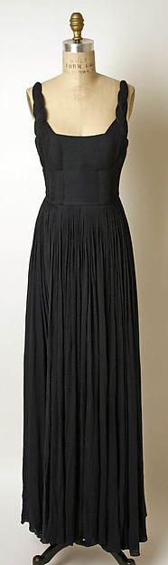 Evening dress Designer: Madame Grès (Alix Barton) (French, Paris 1903–1993 Var region) Date: 1960s Culture: French Medium: silk Dimensions: Length at CB: 50 in. (127 cm) Credit Line: Gift of Mrs. Oscar de la Renta, 1994