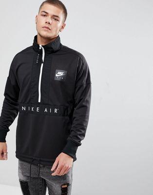 5296c2db1742 Nike Air Half-Zip Jacket In Black 918324-010