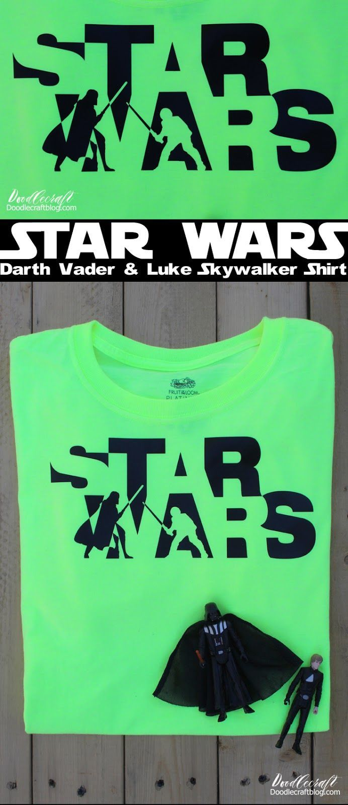 0ac43ec5 Star Wars Darth Vader-Luke Skywalker Battle Iron-On Vinyl DIY Shirt ...