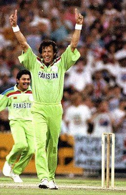 Pakistan Cricket Team. Pakistan won the ICC cricket world cup 1992. The greatest Captain of all time Imran Khan.