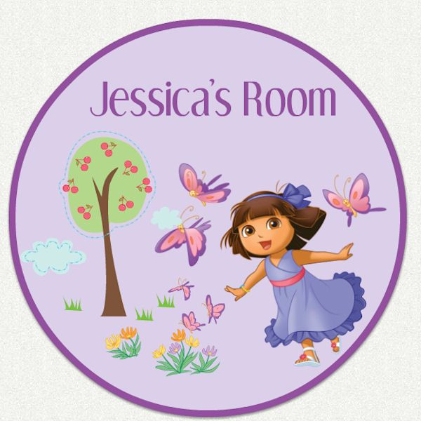 17 best images about custom wall decals for girls on for Dora the explorer wall mural