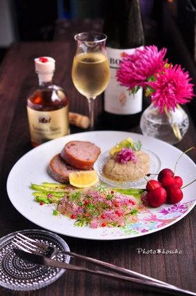 「真鯛のカルパッチョと茄子のペースト」|レシピブログ