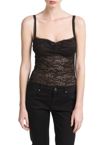 Top tirantes encaje MNG outlet 10€