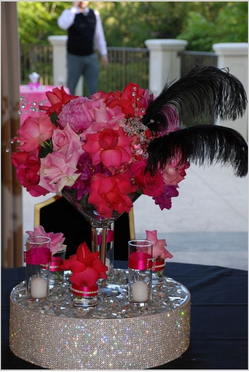 sex and the city themed centerpieces by social couture