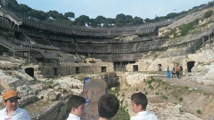 L'Anfiteatro Romano di #Cagliari con i bambini di #maperti14