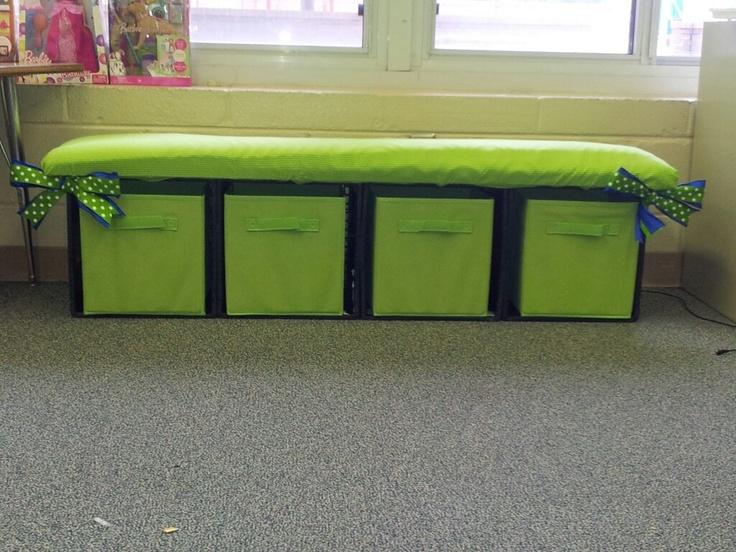 milk crate bench school pinterest