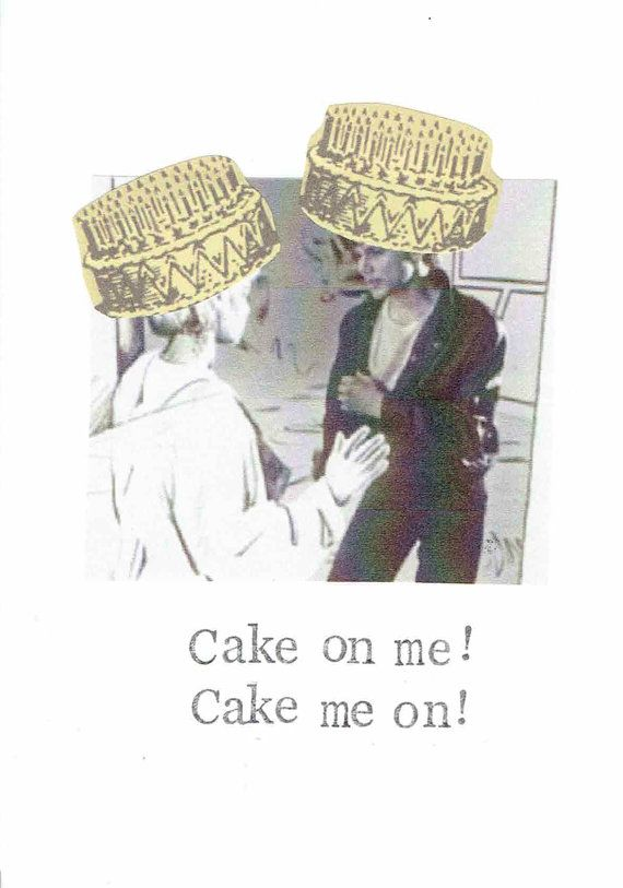 Cake On Me A Ha Birthday Card Funny 80's Retro On Etsy