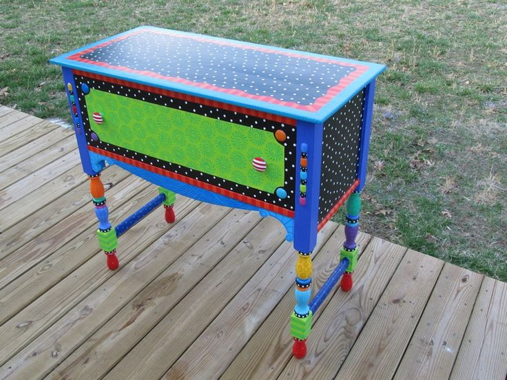Funky Tables 106 best furniture painted objects chairs tables decorated images