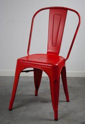 Replica Xavier Pauchard Tolix Vintage Red Dining Chair