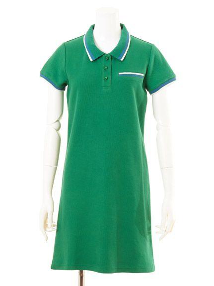 ポロシャツワンピース(ミニワンピース)|Lily Brown(リリーブラウン)|ファッションウォーカー