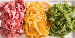 Домашняя цветная лапша с натуральными красителями | Классные вегетарианские рецепты