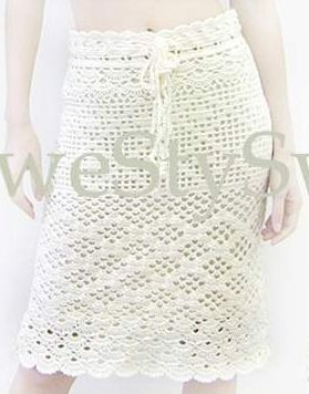This skirt was made from a shawl pattern, that's why I love diagrams.