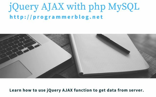 This video tutorial explains how to perform a jQuery AJAX request and fetch data from server using php mysql. Find source code: http://programmerblog.net/jquery-ajax-get-example-php-mysql/.  Learn how to: 1.  create a database and a database table using PhpMyAdmin and insert sample data.  2. send AJAX request to server.  3. Fetch data from database using php mysqli library. 4. Receive and parse JSON data on client side and display to user.