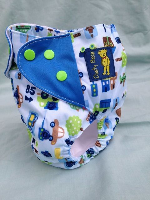 Cars Night Time Modern Cloth Nappy