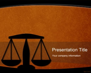 Free Legal PowerPoint Template background for law and attorneys