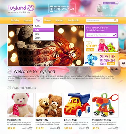 Example of a beautiful toy shop design