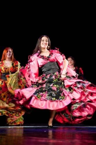Детский костюм для цыганских танцев