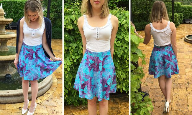How to sew an easy half circle skirt!