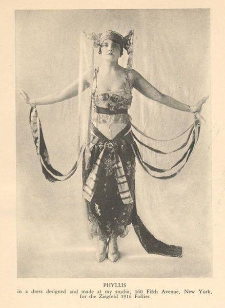 Lucile design for Zeigfeld Follies, Lady Duff-Gordon