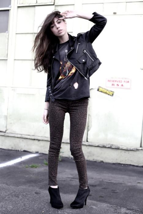 leopard print jeans...