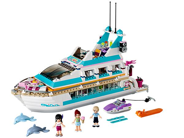 The Lego friends dolphin cruiser is perfect for beginner or experienced collector