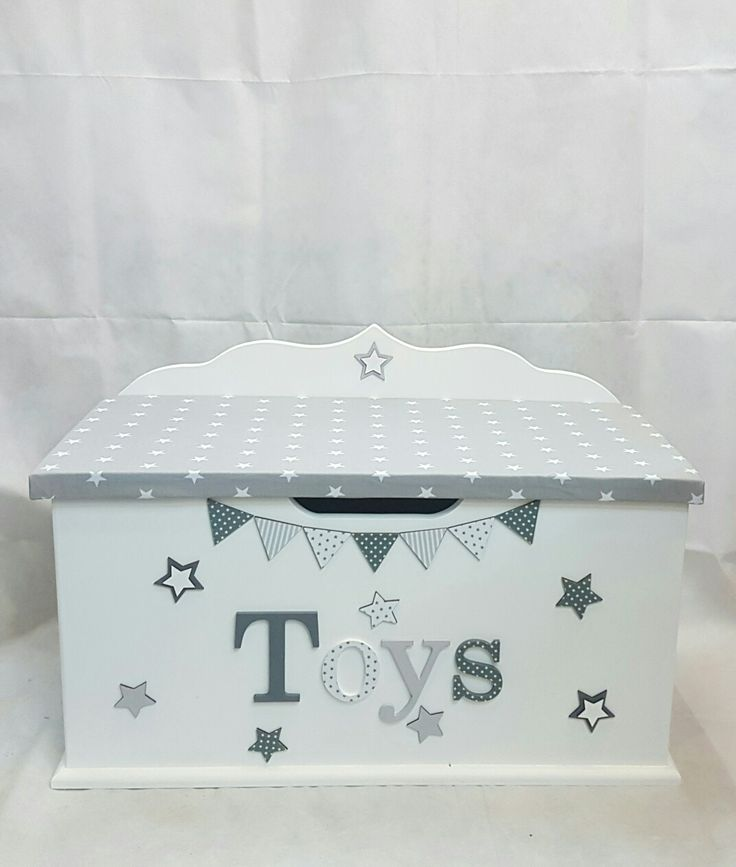 7 best monochrome personalised toy boxes images on for Baby and kids first furniture