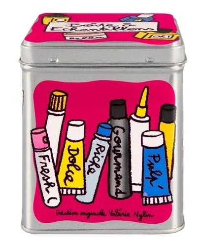 keladeco.com - #boite à #echantillon, idée deco salle de bain, boite à échantillons valérie nylin, boite derrière la porte - DLP