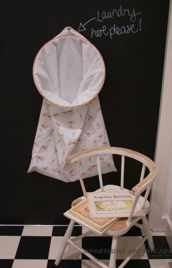 DIY laundry hamper by www.apartmentapothecary.com