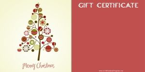 Christmas Gift Certificate Templates with a certificate maker that adds your own text. You can also add images if you want. It is 100% free and there is no annoying registration required.