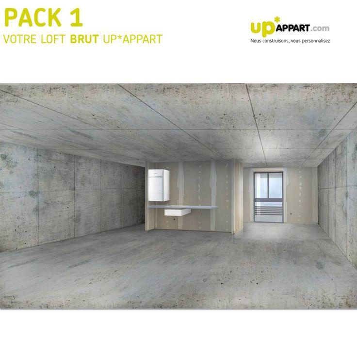 Le pack 1 :Votre loft brut UP*APPART