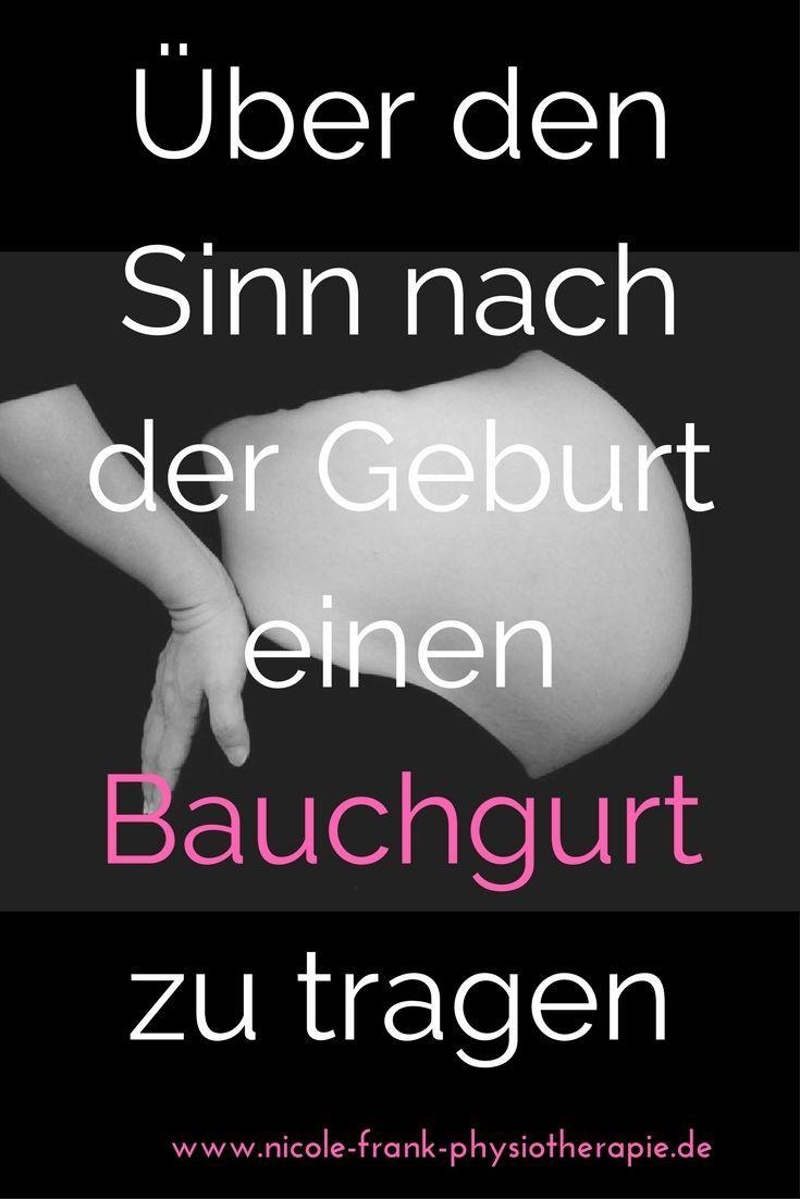 Wann es hilft und wann es nicht hilft einen Bauchgurt nach der Geburt zu tragen