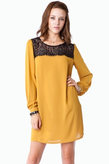yellow tunic dress