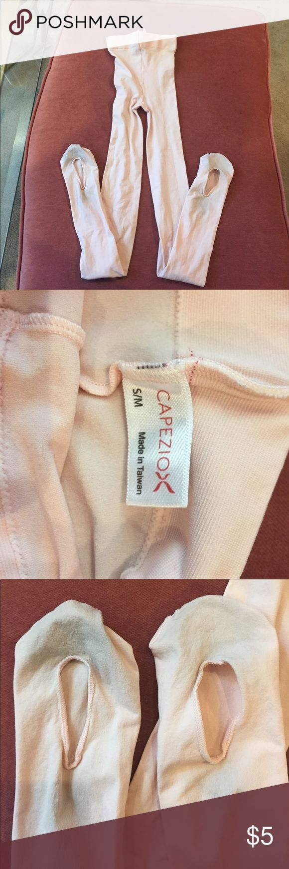 Convertible Ballet tights size S/M Convertible light pink Ballet tights size S/M. Worn maybe 10 times for an hour each time. Leotard sold separately Capezio Other